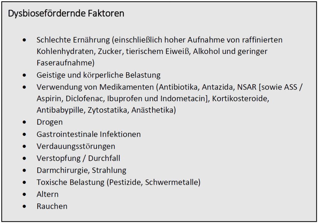 Dybiosefoerdernde Faktoren